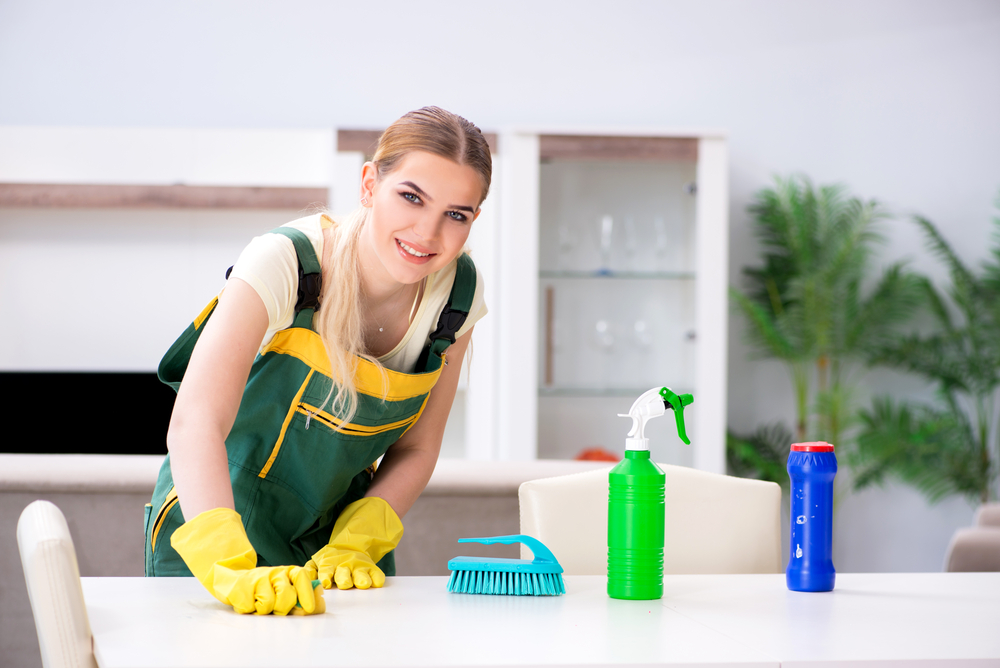 woman cleaning a house Diamond Quality Clean