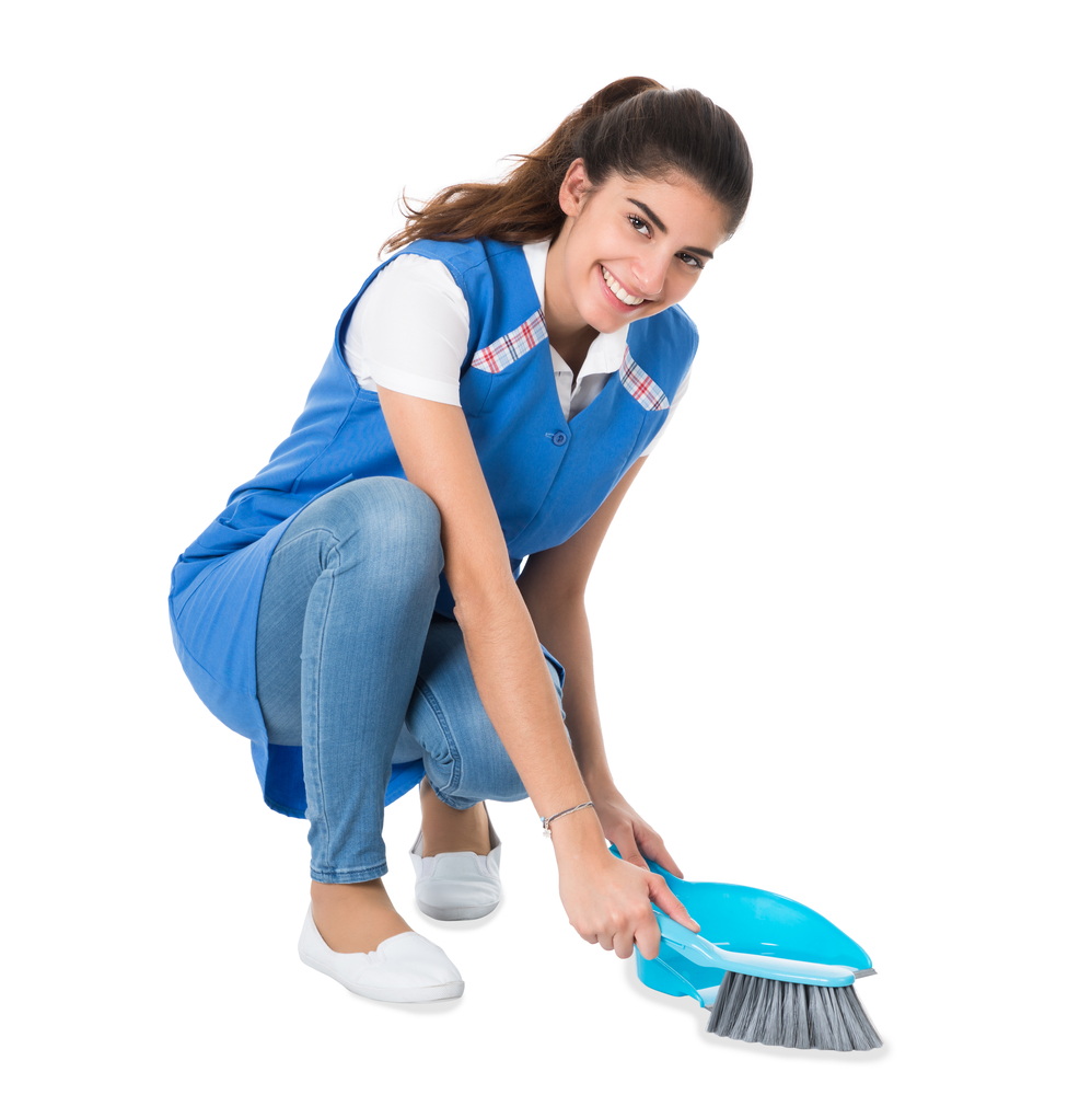 woman providing cleaning services Diamond Quality Clean